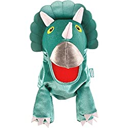 Fiesta Crafts – t-2762-big grandes Triceratops Moving Mouth marioneta de mano)