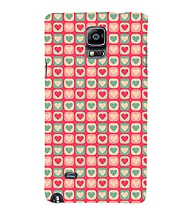 99Sublimation Hearts Design In animation 3D Hard Polycarbonate Back Case Cover for Samsung Galaxy Note 4 :: N910G :: N910F N910K/N910L/N910S N910C N910FD N910FQ N910H N910G N910U N910W8