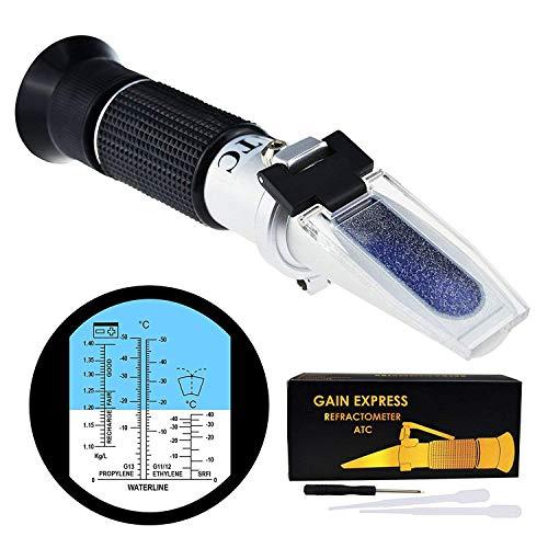 5-in-1 rifrattometro antigelo batteria automotive atc per gravità specifica, glicole propilenico etilenico misuratore tester di misurazione condizione refrigerante