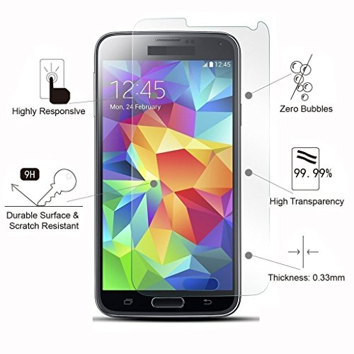 Plus 9H Hardness Ultra Clear Anti-Fingerprints Tempered Glass Screen Protector for Kindle Paperwhite(0.3mm)