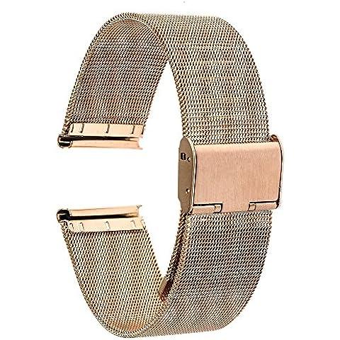 Ver Banda de Moto 2 360 mujeres de 42 mm de correa de 2015 TRUMiRR 16mm venda de reloj del metal del acoplamiento del acero