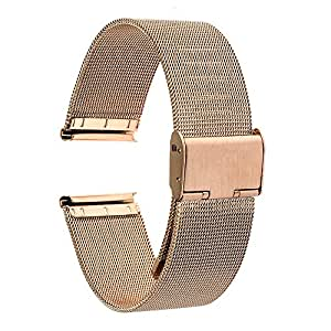 TRUMiRR 20mm Cinturino in maglia di acciaio inossidabile Bracciale in metallo per Garmin Vivoactive 3, Huawei Watch 2 (Sport), Samsung Gear Sport, Gear S2 Classic (SM-R732/R735), Ticwatch 2/E, 40mm DW