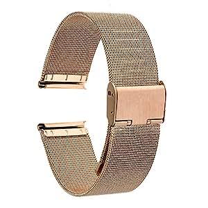 TRUMiRR 18 millimetri Cinturino in maglia di acciaio inossidabile Bracciale in metallo per Huawei Watch 1st/Fit Honor S1, Asus ZenWatch 2 WI502Q femminile, Withings Activite/Pop/Steel HR 36mm, Fossil Q Tailor, LG Watch Style, 36mm Daniel Wellington