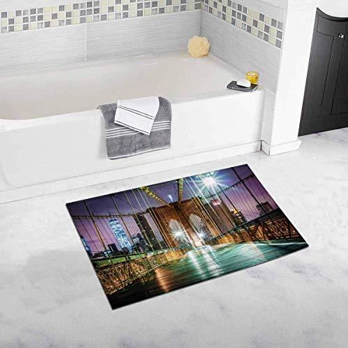 e vor Sonnenaufgang New York City Home Decor rutschfeste weiche Badematten Matten Dusche Teppich für Badezimmer Badewanne Schlafzimmer ()