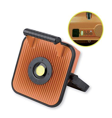 Projecteur LED 50W à batterie pour chantier avec haut parleur et bluetooth - IP54