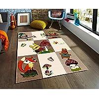 Padişah Halı Çizgi CZ008-760 Renkli Çocuk Odası Halısı - 120x170cm