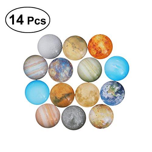 ULTNICE 14pcs Planet Mosaik Fliesen Dome Cabochons Glas Edelstein für Handwerk Schmuck machen