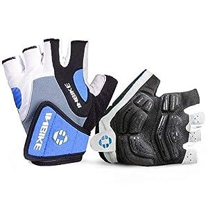 INBIKE Cycling Gloves, Half Finger Summer Gel Gloves for MTB Men's Bicycle (Blue, L)