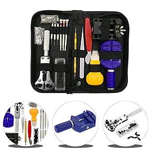 URXTRAL 144-teiliges Uhrenreparatur-Set Professionelle Federstege Werkzeugset