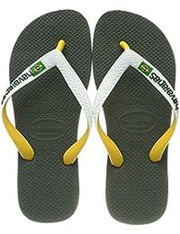 Havaianas Brasil Mix Infradito Unisex - Adulto, Verde (Olive Green), 39/40 EU
