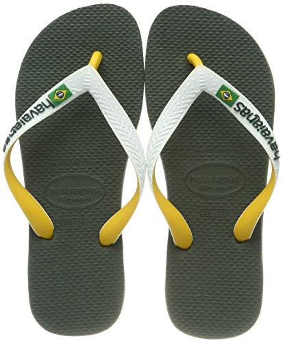 Havaianas Unisex Erwachsene Brasil Mix Zehentrenner, Grün (Green Olive), 43/44 EU