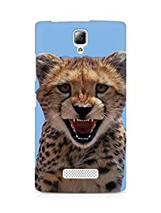 Amez designer printed 3d premium high quality back case cover for Lenovo A2010 (Little Leopard)