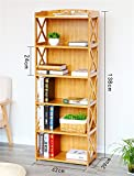 Storage-parete Scaffali in legno Soggiorno / Camera da letto / Cucina Scaffalatura per scaffale Libreria semplice da tavolo 5 livelli scaffali classificati ( dimensioni : 42cm ) immagine