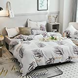 GAYOUS Bettwäsche Set 4 Teilig,Verdicktes, geschliffenes Bettwäscheset mit Vier Kissenbezügen, Y_150 × 200 cm,Wendebettwäsche Set