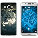 PhoneNatic Case für Samsung Galaxy J7 (2016) J710 Silikon-Hülle Element Luft M1 Case Galaxy J7 (2016) J710 Tasche + 2 Schutzfolien