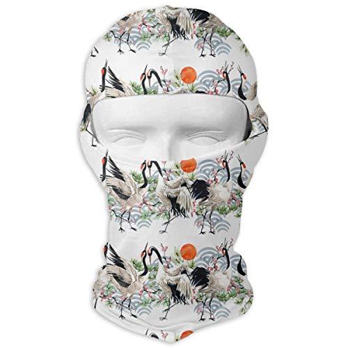 Fsrkje Watercolor Japanese Crane Bird Windproof Dust Protection -