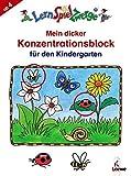 LernSpielZwerge Übungsblock: Mein dicker Konzentrationsblock für den Kindergarten