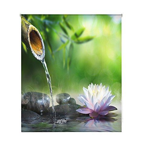 Happystor HSCZ4625 Estor Enrollable Estampado Digital Zen Tejido Traslúcido Medida Total Estor:160x180 (**Solo Ancho Tela:156-157cm.**)