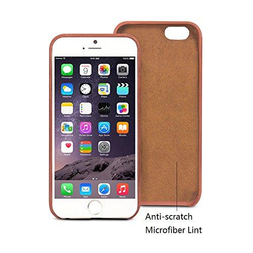 iphone6s, 6S Plus Étui ultra fin, Bumper Coque arrière en cuir véritable pour 11,9cm Apple téléphone, qialino fabriqué à la main doux et protection d'écran avec dos fente pour carte pour iPhone 3S/6S iphone6s Red