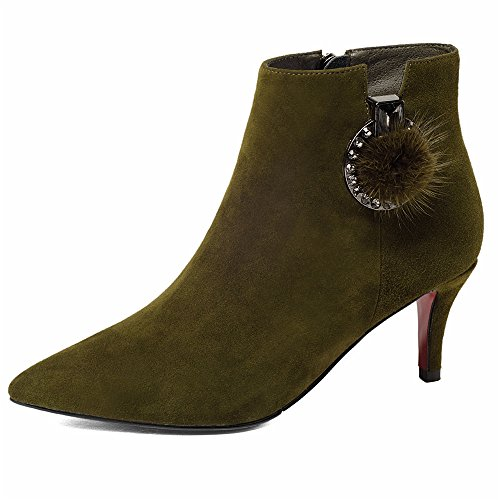 Nine SevenAnkle Bootie - Anfibi donna Army Green