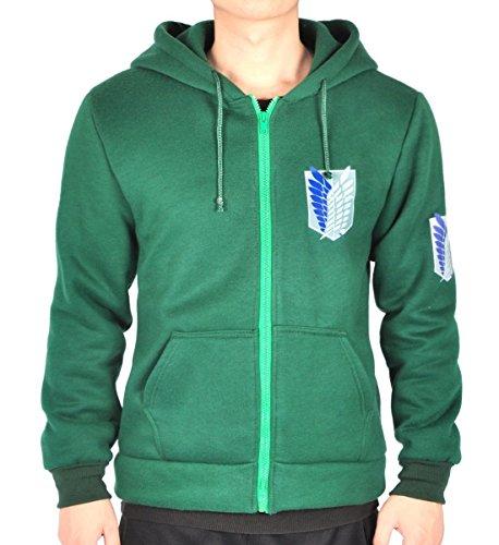 CoolChange Attack on Titan Kapuzen Pullover mit Aufklärungstrupp Logo, Größe: M