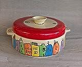 Brottopf Brotdose mit Griffen Keramik in colorido