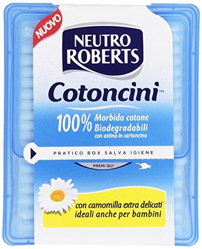 Neutro Roberts cotoncini-soft, biodégradables, 100% coton avec carte intégrée, Camomille, convient également pour les bébés – 100 Pièces