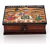 Home|Décor|Exclusive New Decorative Handicrafts Unique Items| Wooden Hand Painted Dhola Maru Jewellery Box 330