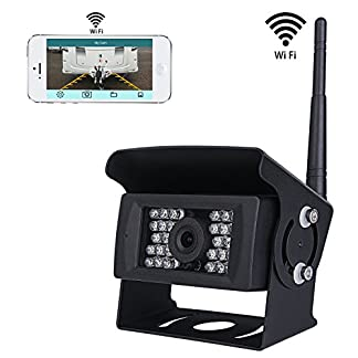 Wifi-Wireless-Rckfahrkamera-CCTV-System-36V-bis-12V-IP69-Wasserdicht-Super-Night-Vision-28-IRs-leuchtet-Rckfahrkamera-mit-Backup-Linie-Monitor-Kit-kompatibel-mit-iPhone-iPad-und-Android