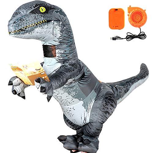 Vamei dinosauro gonfiabile costume da velociraptor costume di halloween per adulti divertente party cosplay dinosaur party outfit