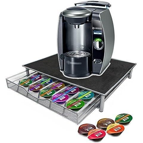 Parte superior Home Solutions para máquina de soporte y cápsulas de soporte de cajón para Nespresso y Dolce Gusto