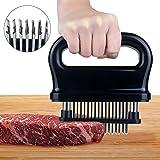 ALSAEU Meat Tenderization Tool,48 Stainless Steel Tenderloin Needle Super Sharp Blade Tenderizer,