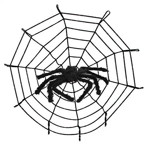 Spinnen Halloween Deko, Saienfeng 50CM Spinne 3.2M Spinnennetz Halloween Party Dekoration Haunted House (Dekoration Haunted Tür House)