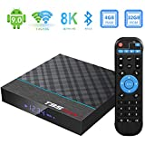 Android 9.0 TV Box, Sidiwen T95 Max + 4GB RAM 32GB ROM Amlogic S905X3 Quad-Core Dual WiFi 2.4G 5G Bluetooth 4.0 Ethernet USB 3.0 Supports 3D 8K Ultral HD Smart Media Player