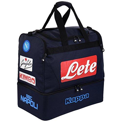 SSC Napoli Bolsa con doble fondo, azul marino oscuro, l