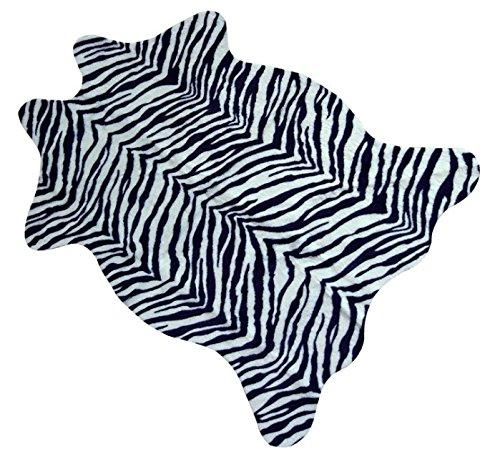 GRENSS-Mat Teppich Zebra Leopard mit Rindsleder Tricolor Kunstleder Rindsleder gedruckt Tier-Teppich, Teppich für Badezimmer Dekoration. 110x75cm -
