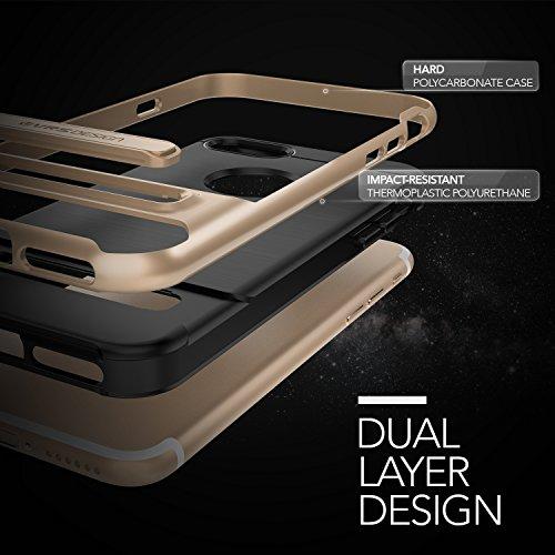 Housse de iPhone 7VRS Design [High Pro Shield Serie] brossé ischer Militaire Protection Support pliant pour Apple iPhone 72016 or