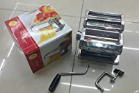 Grizzly Pasta roller with Tagliatelle and Fettuccine Cutters, Pasta and Noodle maker