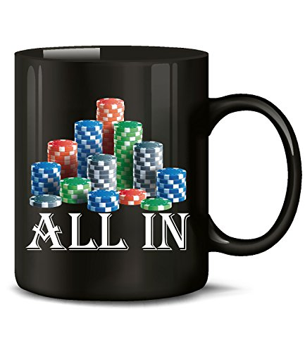 All in Poker 5363 Casino Spielhalle Fun Tasse Becher Kaffeetasse Kaffeebecher Schwarz