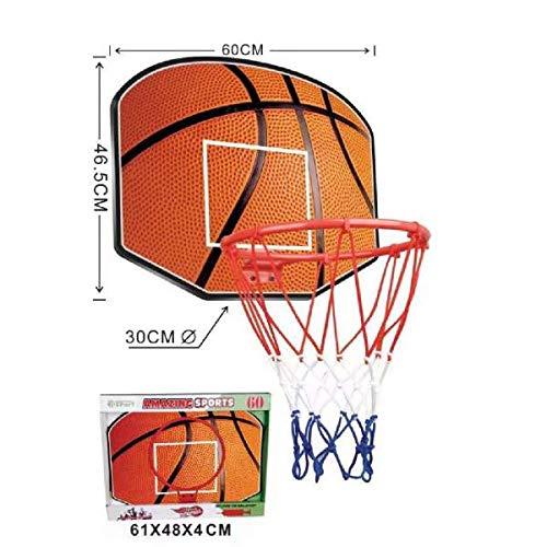 Amazing sports Tablero con Canasta de Baloncesto para Niños, Aro de 30cm, Tablero de 60x46,5 cm