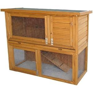 AK for Pets Hasenstall Liberty 2 Etagen, natur, 115x50x92 cm