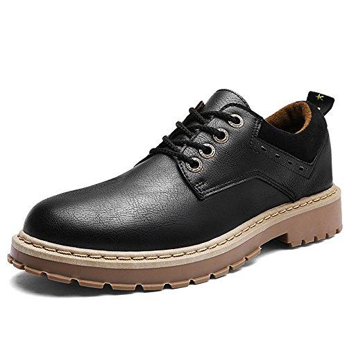 gli uomini di moda casual scarpe, martin gli stivali, uomini corti stivali, uomini e 'vecchio stile britannico, una bassa scarpe di cuoio black