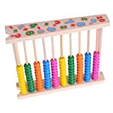 JAGENIE abaco in legno Bead Maths Counting Educational 10 barre per Early Learning Toys