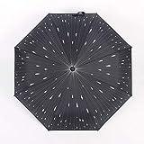 YSYES Ombrello Completamente Automatico Meteor Donna Uomo Ombrello da Pioggia Tasca per Ombrellone Grande Antivento Ombrello da Sole Pieghevole Nero 3