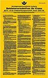 H.Klar Aufkleber Betriebsvorschriften für Krane Ausgabe 2001 450x275mm