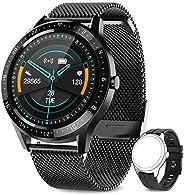 AIMIUVEISmartwatch, Orologio Fitness Uomo Cardiofrequnzimetro da Polso Contapassi e Calorie Impermeabile IP67