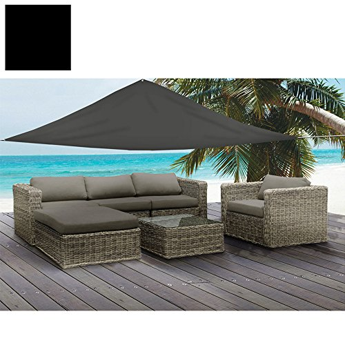 5m x 5m x 5m Vela resistente all' acqua parasole Patio Tenda da giardino