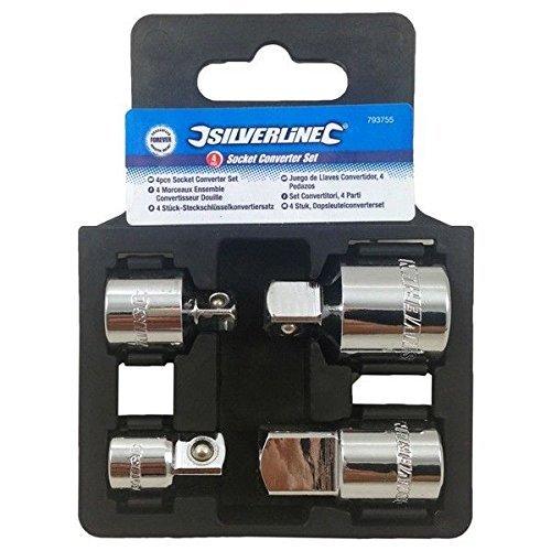 Adaptateur Réducteur Convertisseur Mandrin Kit 4 Pcs Tailles 1/2 Pouce, 3/8 Pouce et 1/4 de pouce