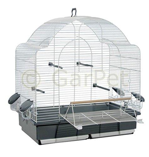 Vogelkäfig Wellensittich Großsittich Papagei Käfig vorne Freisitz offen Freiflug