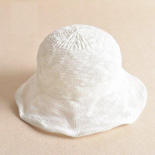 Faser Hut Hut Sommer Sommer Gezeiten Wild Becken Mütze Sonnenschutz Sonnenhut,Weiß (20er Jahre Kostüme Für Paare)